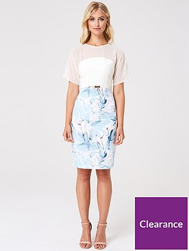 paper-dolls-2-in-1-floral-skirt-bodycon-dress-multi