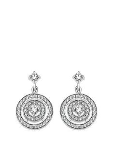 the-love-silver-collection-sterling-silver-cubic-zirconia-halo-drop-stud-earrings