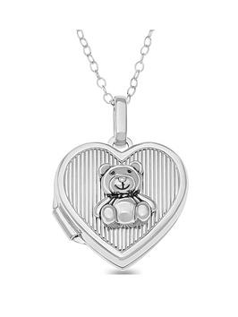 the-love-silver-collection-sterling-silver-childrens-heart-locket-with-3d-teddy-bear