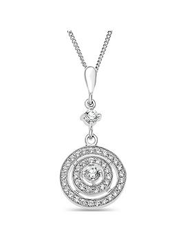 the-love-silver-collection-sterling-silver-cubic-zirconia-halo-pendant-necklace