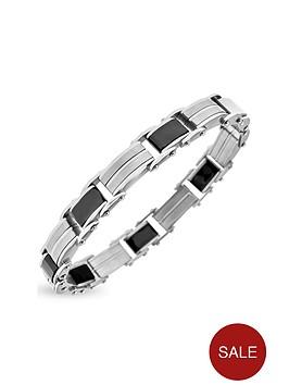 stainless-steel-ceramic-mens-link-bracelet