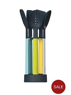 joseph-joseph-elevate-5-piece-light-silicone-utensil-set-with-carousel-stand
