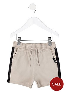 river-island-mini-mini-boys-tape-straight-shorts-stone