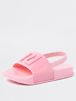 river-island-mini-mini-girls-ri-jelly-sliders-pink
