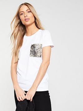 v-by-very-snake-print-patch-pocket-t-shirt-white