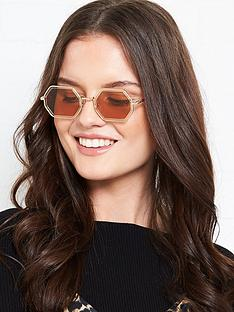 chloe-tally-octagon-frame-sunglasses-gold