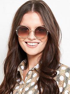 longchamp-round-double-trim-sunglasses-gold