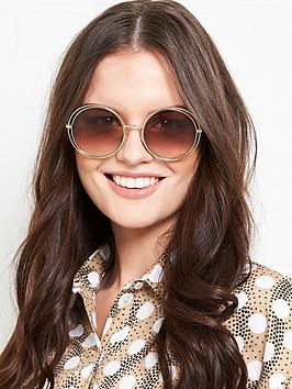 longchamp-round-double-trim-sunglasses-gold
