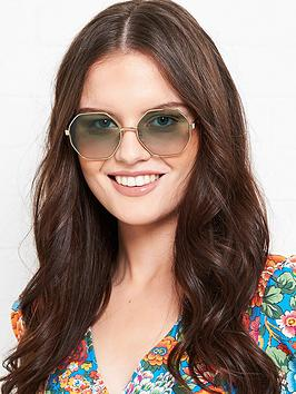 Longchamp Longchamp Octagonal Gradient Lens Sunglasses - Gold Picture