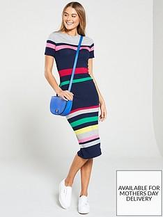 oasis-oasis-rainbow-marl-stripe-jersey-tube-dress