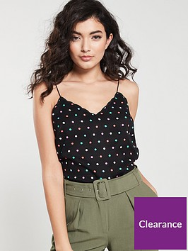 oasis-scallop-spot-cami-top-black