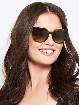 Karl Lagerfeld Butterfly Havana Sunglasses - Havana