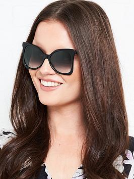Karl Lagerfeld Butterfly Acetate Sunglasses - Black