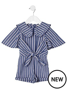 river-island-mini-mini-girls-stripe-collar-playsuit-blue