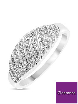 the-love-silver-collection-sterling-silver-cubic-zirconia-multirow-dress-ring
