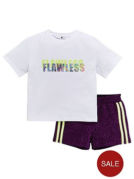 v-by-very-girls-flawless-t-shirt-and-shimmer-shorts-outfit-multi