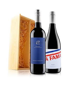 Virgin Wines Virgin Wines Red Duo In A Wooden Giftbox Picture