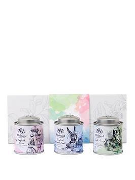 whittard-alice-in-wonderland-trio-mini-tea-caddy-set