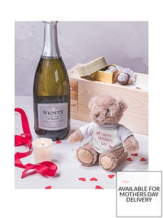virgin-wines-prosecco-with-teddybear-and-luxury-charbonnel-et-walker-chocolates