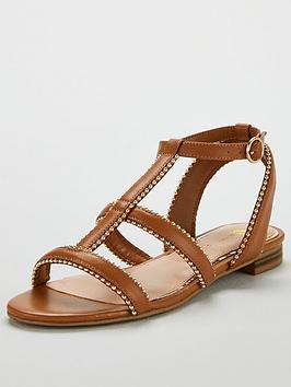 v-by-very-hapur-stud-trim-flat-sandals-tan