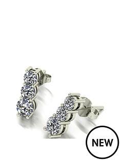 moissanite-9ct-white-gold-1-carat-moissanite-trilogy-stud-drop-earrings