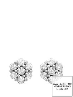 love-diamond-9ct-white-gold-14-carat-diamond-cluster-stud-earrings