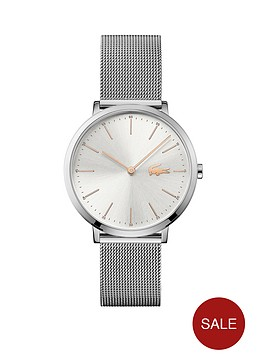 lacoste-lacoste-silver-and-rose-gold-dial-stainless-steel-mesh-strap-ladies-watch