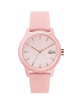 Lacoste Lacoste Lacoste Pink And Gold Detail Dial Pink Silicone Strap  ... Picture