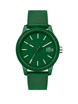 Lacoste Lacoste Lacoste 12.12 Green And White Detail Dial Green Fabric  ... Picture