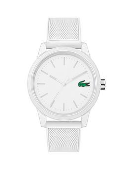 Lacoste Lacoste Lacoste 12.12 White Dial White Fabric Strap Mens Watch Picture