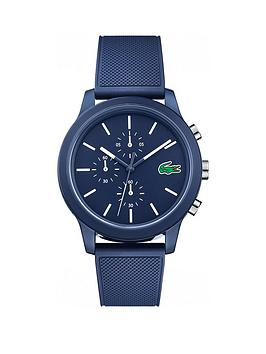 Lacoste Lacoste 12.12 Blue And White Detail Multi Dial Blue Fabris Strap Mens Watch