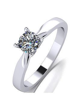 Moissanite Moissanite Platinum 1/2Ct Moissanite Solitaire Ring Picture