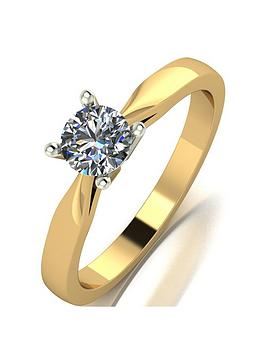 Love DIAMOND Love Diamond 18Ct Gold 1/2 Carat Diamond Solitaire Ring With  ... Picture