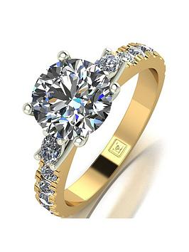 Moissanite Moissanite 18Ct Gold Lady Lynsey 2Ct Total Moissanite Solitaire  ... Picture