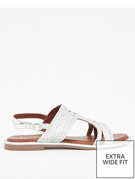 evans-evans-extra-wide-fit-leather-weave-sandal