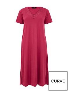 evans-lace-detailnbsplongline-nightdress-claret