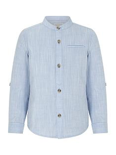 monsoon-boys-tristan-textured-grandad-shirt