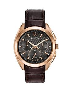 bulova-bulova-curv-black-and-rose-gold-detail-chronograph-dial-brown-leather-strap-mens-watch