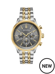 bulova-bulova-grey-and-gold-detail-chronograph-dial-two-tone-stainless-steel-bracelet-mens-watch