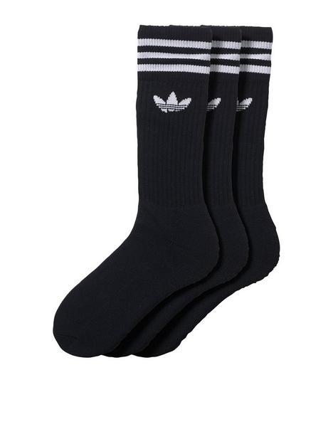 adidas-originals-3-pack-of-solid-crew-socks-black