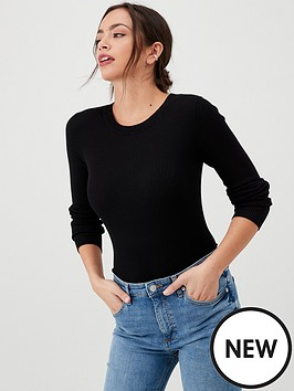 v-by-very-skinny-rib-crew-neck-jumper-black