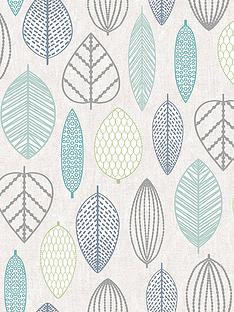 superfresco-easy-scandi-leaf-blue-wallpaper