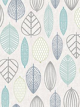superfresco-easy-scandi-leaf-blue-wallpaper