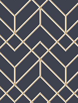 superfresco-easy-losanges-filaires-navy-wallpaper