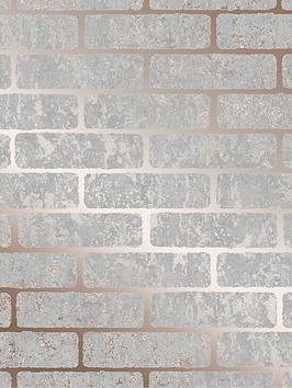 Superfresco Superfresco Milan Brick Wallpaper - Rose Gold Picture