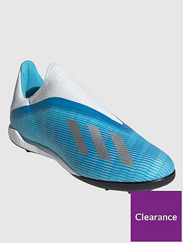 adidas-x-laceless-193-astro-turf-football-boot-bluewhite