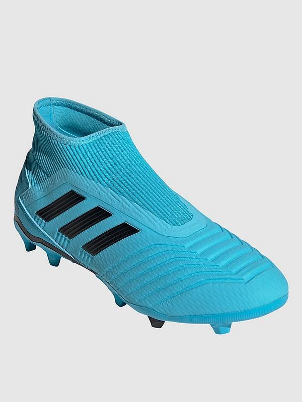 Predator Laceless 19.3 Firm Ground Football Boot Blue