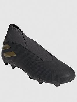 Adidas   Nemeziz Laceless 19.3 Firm Ground Football Boot - Black
