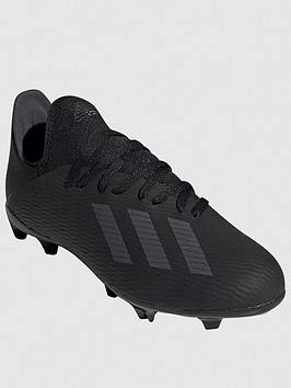 Adidas   Junior X 19.3 Firm Ground Football Boots - Black