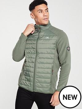 trespass-saunter-hybrid-fleece-padded-jacket-olive